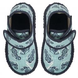 NANGA barefoot papuče KLEINER MONSTERTRUCK