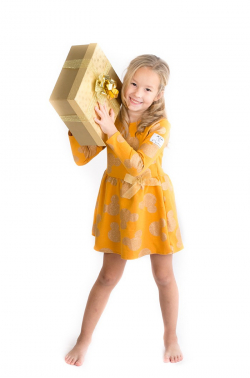 Žltozlatá dievčenská tunika - šaty