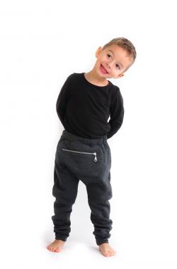 Zateplené detské bavlnené nohavice