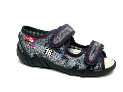 Chlapčenské papučky  sandálky RENBUT 23-378 modré 16