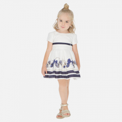 MAYORAL elegantné dievčenské šaty 3925-025 navy