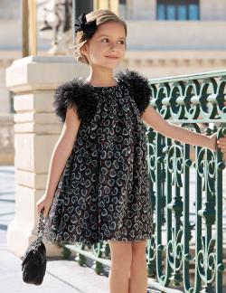 Čierne exkluzívne dievčenské šaty ABEL&LULA 5538-001