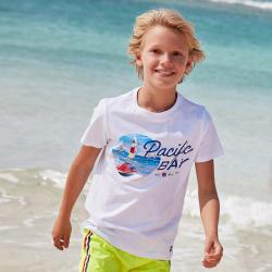 MAYORAL chlapčenské  tričko 6065-011 white