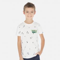 MAYORAL chlapčenské tričko s krátkym rukávom 6071-021 cream