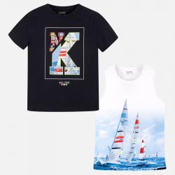 MAYORAL chlapčenské 2 PACK tričko+tielko 6072-072 ocean