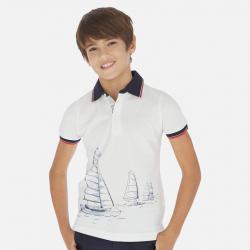 MAYORAL chlapčenská polokošeľa plachetnica 06142-069 white