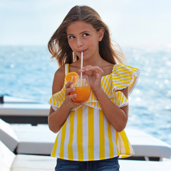 MAYORAL pásikavý dievčenský top 06168-023 yellow