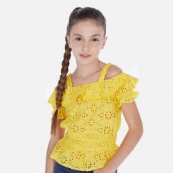 MAYORAL žltý dievčenský top 06169-092 yellow