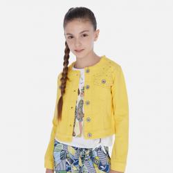 MAYORAL dievčenský riflový kabátik 06460-069 yellow