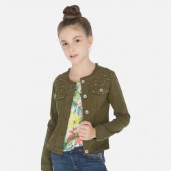MAYORAL dievčenský riflový kabátik 06460-070 green