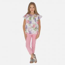 MAYORAL dievčenské nohavice 06528-072 hollyhock