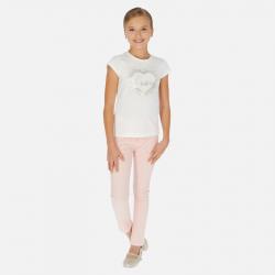 MAYORAL dievčenské nohavice s kamienkami 06532-071 nude