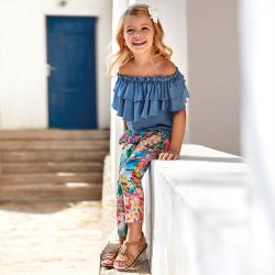 MAYORAL dievčenske farebné letné nohavice 3544-007