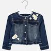 MAYORAL dievčenský rifľový kabát s margarétkami
