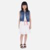 MAYORAL biela dierkovaná sukňa s mašľou 06953-015 white