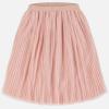 MAYORAL skladaná tylová midi sukňa 06951-079 nude