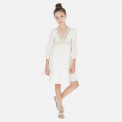 MAYORAL ľahké letné dievčenské šaty 06971-003 natural
