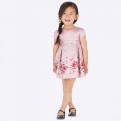 Slávnostné kvietkované šaty MAYORAL 4922-081 nude