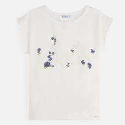 MAYORAL tričko s krátkym rukávom 6001-094 natur