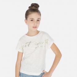 MAYORAL tričko s krátkym rukávom 6010-003 natural