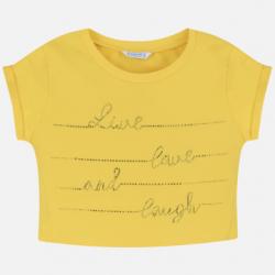MAYORAL dievčenské tričko s napismi 6019-037