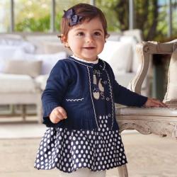 Dievčenský pletený svetrík - kabátik MAYORAL 2315-035 navy