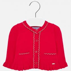 Dievčenský pletený svetrík - kabátik MAYORAL 2315-037 scarlet