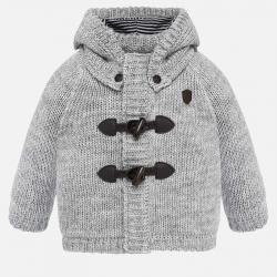 Chlapčenský sveter pletený s kapucňou MAYORAL 2329-064 grey
