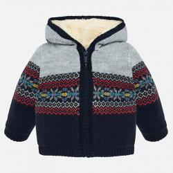 Chlapčenský sveter pletený s kapucňou MAYORAL 2332-020 universal