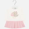 MAYORAL dievčenské šaty s mačičkou 2912-029 rose