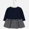 MAYORAL dievčenské šaty s bodkovanou sukňou 2919-018 navy
