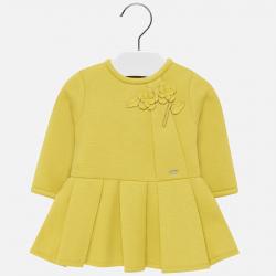 Žlté dievčenské šaty s nášivkou MAYORAL 2929-060 yellow