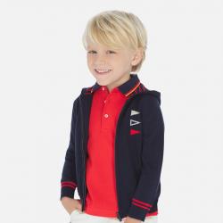 MAYORAL chlapčenský sveter s kapucňou 3314-037 navy