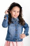 Rifľový kabát s perleťovými korálkami MM 208 jeans