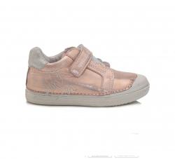 D.D.STEP dievčenská perleťová kožená obuv 049-969M