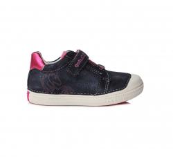 D.D.STEP dievčenská perleťová kožená obuv 049-969CM
