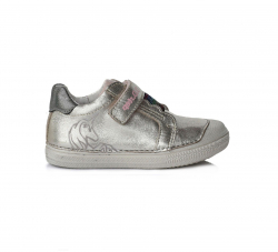D.D.STEP dievčenská perleťová kožená obuv 049-969AM