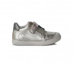 D.D.STEP dievčenská perleťová kožená obuv 049-969AL