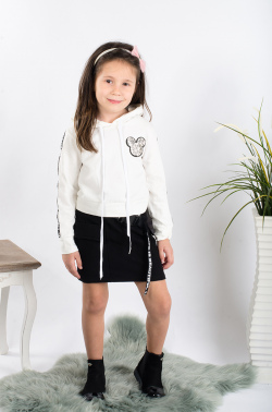 Bavlnená športová sukňa MINNIE čierna MM 519 Minnie black