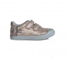 D.D.STEP dievčenská perleťová kožená obuv 049-917EM