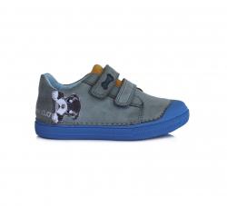 D.D.STEP kožená obuv pre chlapcov 049-917M sky blue