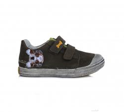 D.D.STEP kožená obuv pre chlapcov 049-917BM khaki
