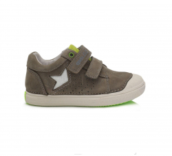 D.D.STEP kožená obuv pre chlapcov 049-916BM khaki