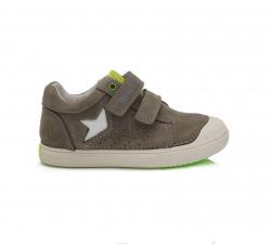 D.D.STEP kožená obuv pre chlapcov 049-916BL khaki