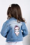 Dievčenský rifľový kabát  MM 232 LOL girl