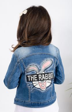 Dievčenský rifľový kabát ZAJKO MM 255 rabbit