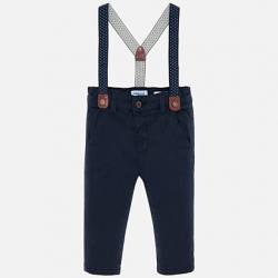 MAYORAL chlapčenské  nohavice na traky 2532-080 navy