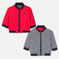 MAYORAL chlapčenský obojstranný kabát 1461-052 red