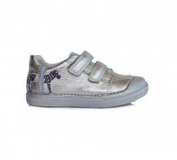 D.D.STEP dievčenská perleťová kožená obuv 049-917DM