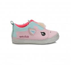Dievčenská plátená obuv C040-901M pink